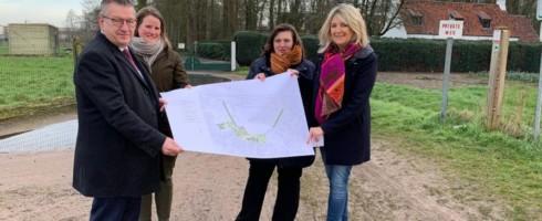 Er komt een nieuw park en een nieuwe fietsontsluiting van het gebied Veltembos.